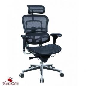Кресло компьютерное ERGOHUMAN эргономичное черное