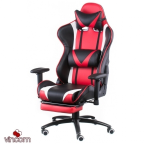 Кресло Special4You ExtremeRace black/red with footrest