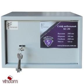 Сейф мебельный Ferocon БС-20КД.7035