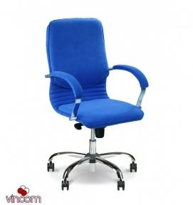 Кресло Новый Стиль NOVA steel LB chrome (Кожа Сплит SP-A)