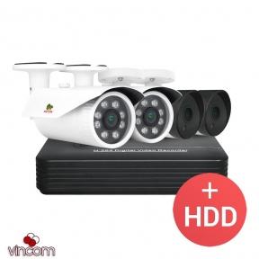 Комплект видеонаблюдения Partizan PRO AHD-41 4xCAM + 1xDVR + HDD
