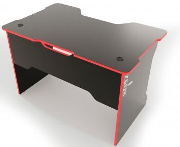 Стол ZEUS TRON Stalker черный/красный
