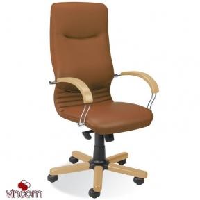 Кресло Новый Стиль NOVA wood chrome (Экокожа)