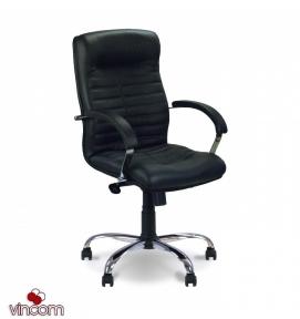 Кресло Новый Стиль ORION steel LB chrome (Кожа Сплит SP-A)