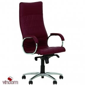 Кресло Новый Стиль ALLEGRO steel chrome (Кожа Люкс LE)
