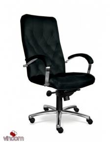 Кресло Новый Стиль CUBA steel chrome (Кожа Сплит SP-A)