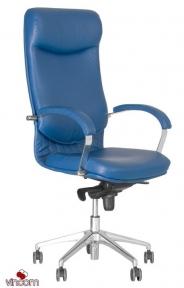 Кресло Новый Стиль VEGA steel chrome (Кожа Сплит SP-A)