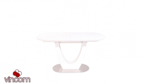 Стол Vetro TML-765-1 белый МДФ+матовое стекло