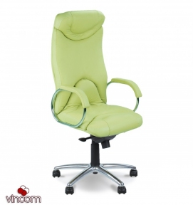 Кресло Новый Стиль ELF steel chrome (Кожа Сплит SP-A)