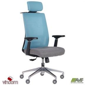 Кресло AMF Self светло-голубой/серый