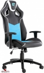 КРЕСЛО ГЕЙМЕРСКОЕ GT RACER X-2560 BLACK/WHITE/LIGHT BLUE